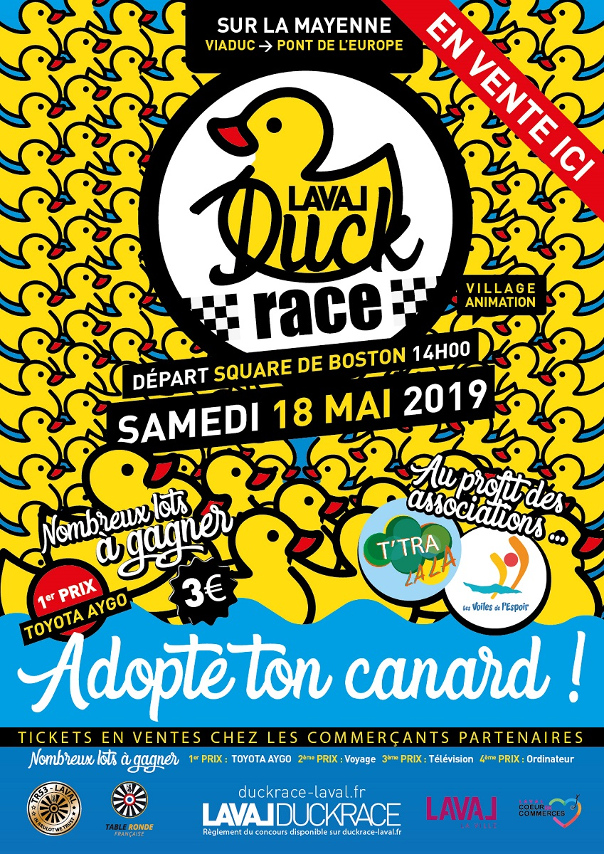 affiche duck race laval points vente bd